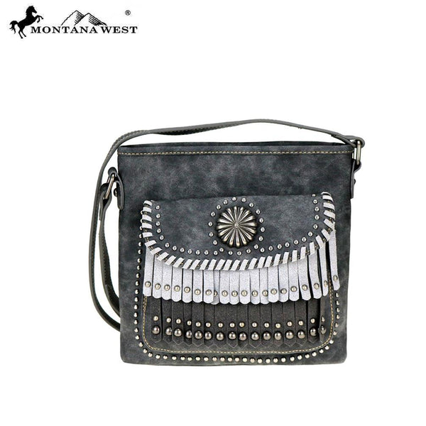 Eucommia Concho Fringe Crossbody Bag - Montana West World