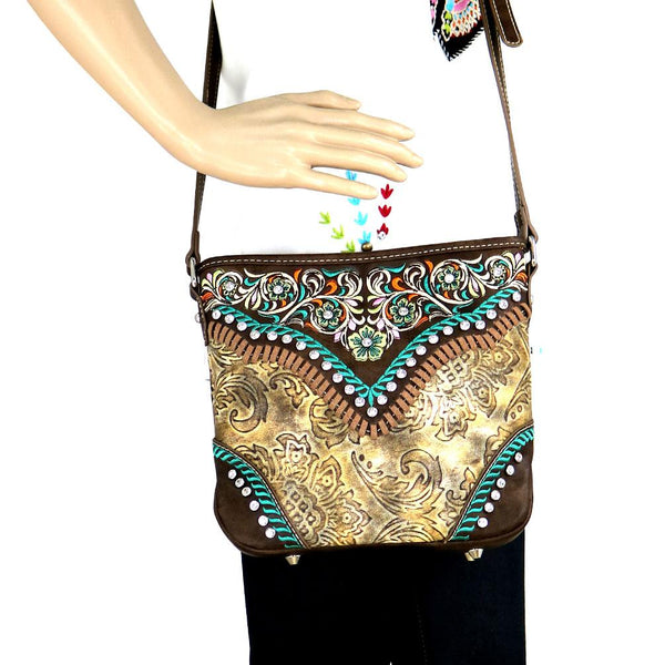 Doronicum Embroidered Crossbody Bag - Montana West World