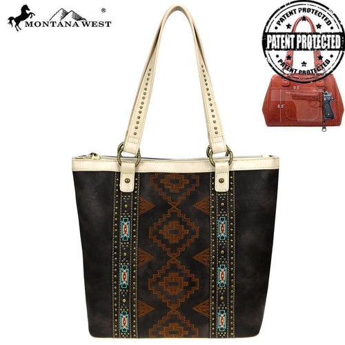MW744G-8113 Montana West Aztec Collection Concealed Carry Tote - Montana West World