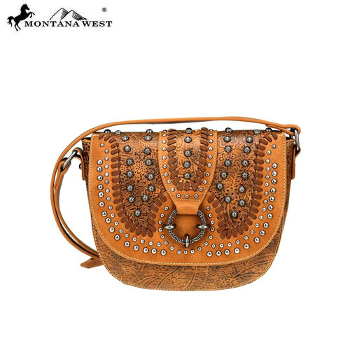 MW747-8360 Montana West Concho Collection Saddle Bag