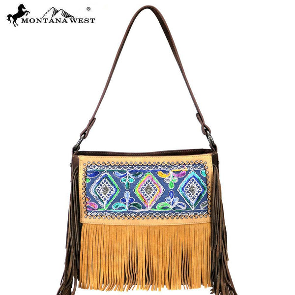 Cymbidium Fringe Hobo Bag - Montana West World