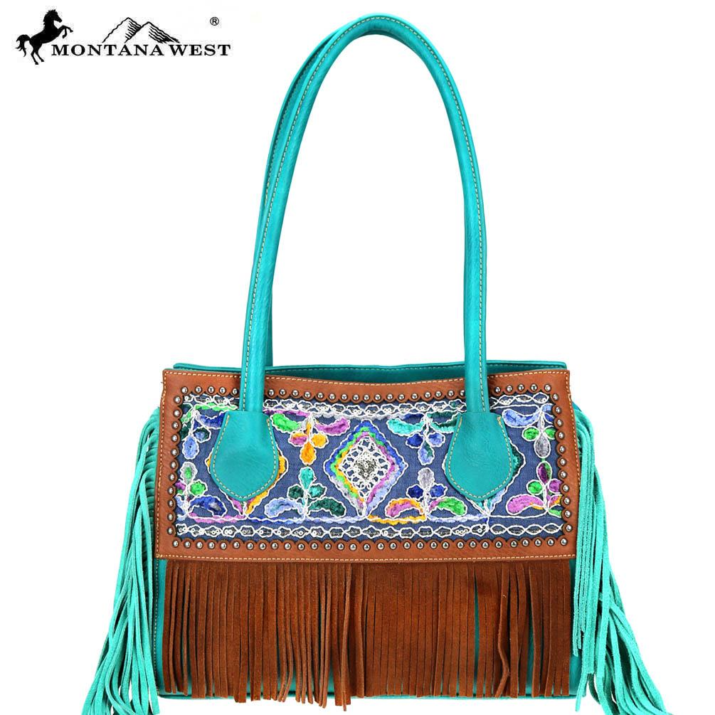 Cymbidium Fringe Tote Bag - Montana West World