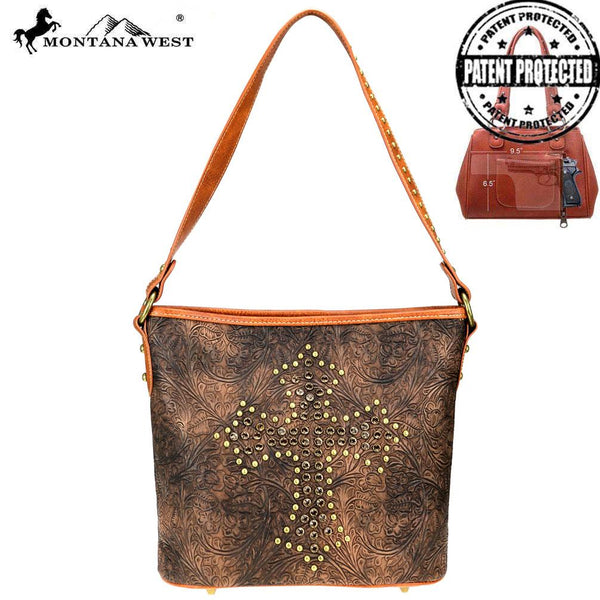 Coniogramme Spiritual Concealed Carry Hobo Bag - Montana West World