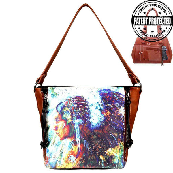 MW812G-918 Montana West Aztec Collection Concealed Carry Hobo