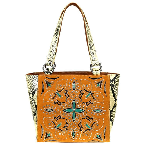 Coleus Embroidered Concealed Carry Tote Bag - Montana West World
