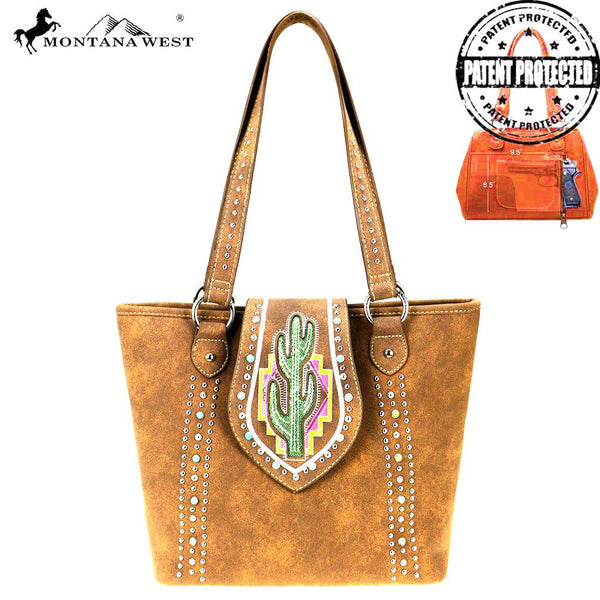 Cactus Concealed Carry Tote Bag - Montana West World