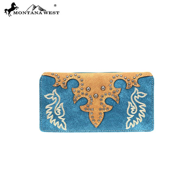 MW863-W010 Montana West Embroidered Collection Wallet - Montana West World