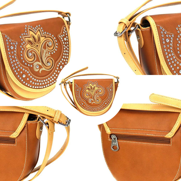 Cladanthus Embroidered Crossbody Bag - Montana West World