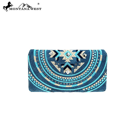 MW889-W010 Montana West Aztec Collection Wallet - Montana West World