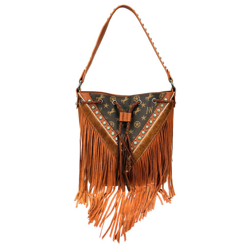 Dodder Signature Monogram Fringe Hobo - Montana West World
