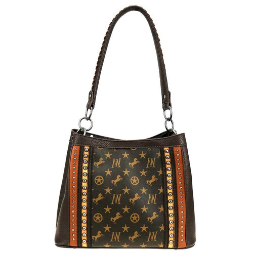 MW903-121 Montana West Signature Monogram Collection Hobo/Crossbody - Montana West World