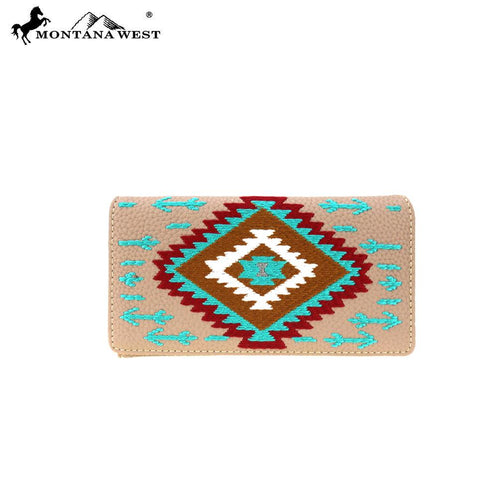 Spiraea Aztec Wallet - Montana West World