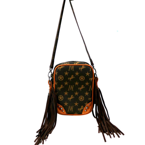 Maackia Signature Monogram Fringe B Crossbody - Montana West World