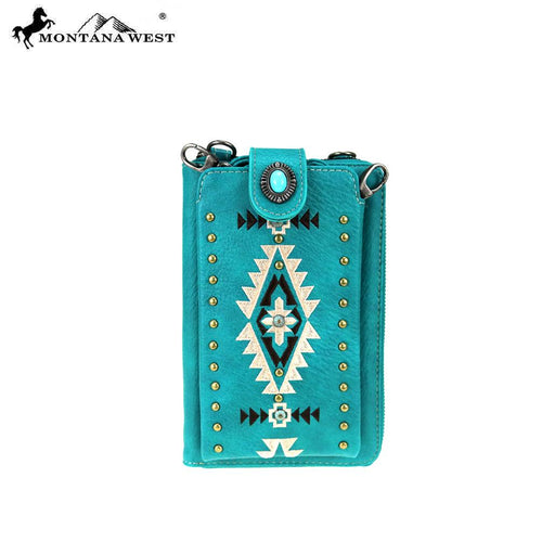 MW910-183   Montana West Embroidered Collection Phone Wallet/Crossbody