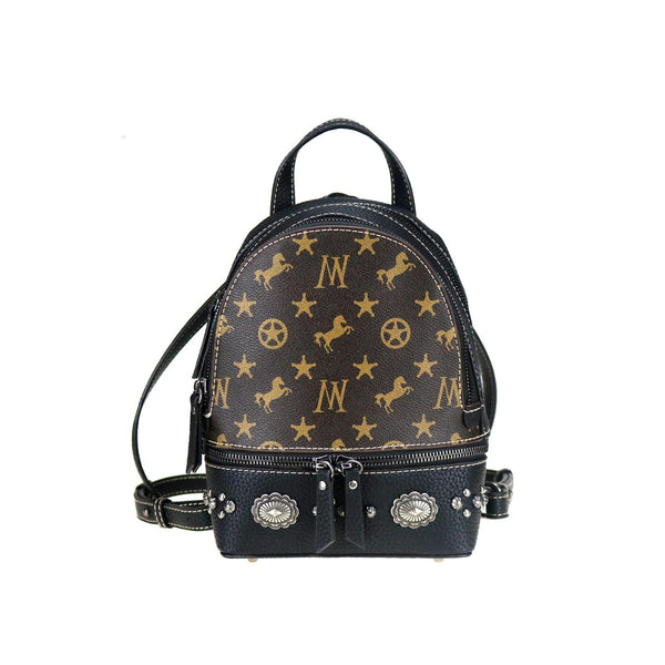 Tamarisk Signature Monogram Mini Backpack - Montana West World