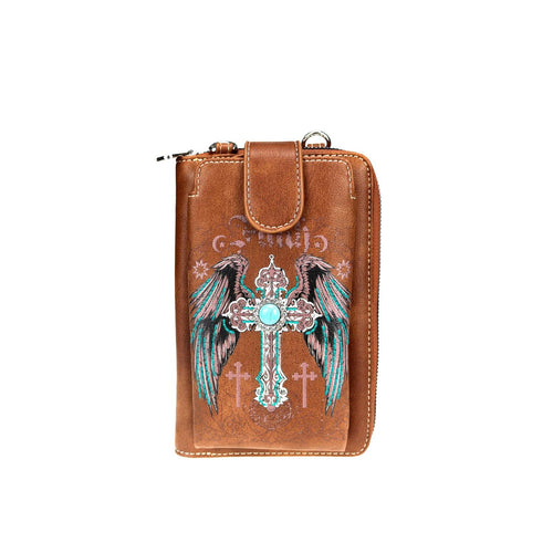MW945-183   Montana West Spiritual Collection Phone Wallet/Crossbody