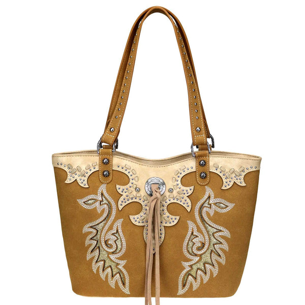 Wingnut Embroidered Concealed Carry Tote Bag - Montana West World