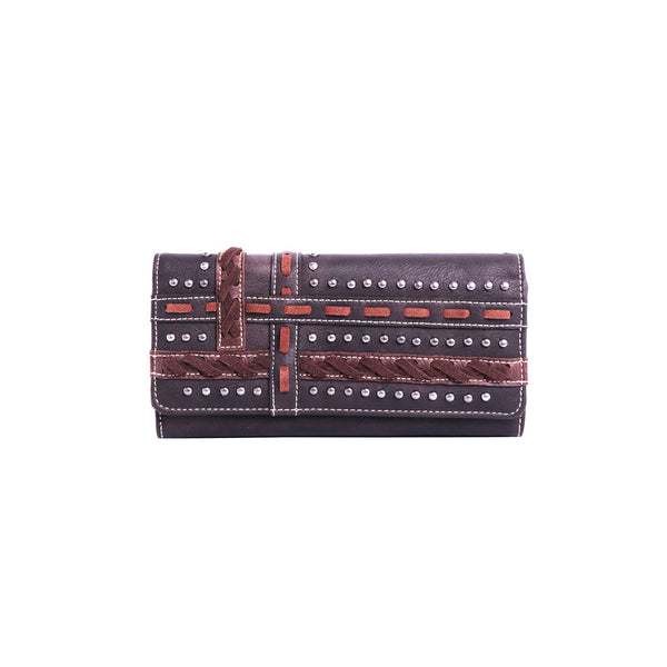 MW952-W018 Montana West Studded Collection Wallet/Wristlet - Montana West World
