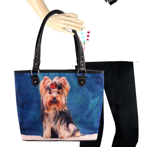 MW967-8112 Montana West  Pet Printed Dogs Collection Canvas Tote Bag - Montana West World