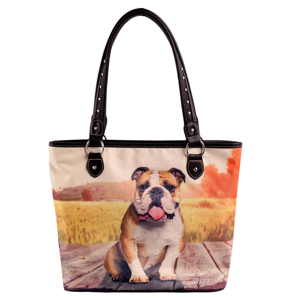 MW968-8112 Montana West  Pet Printed Dogs Collection Canvas Tote Bag - Montana West World