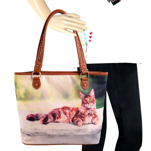 Cats F Canvas Tote Bag - Montana West World