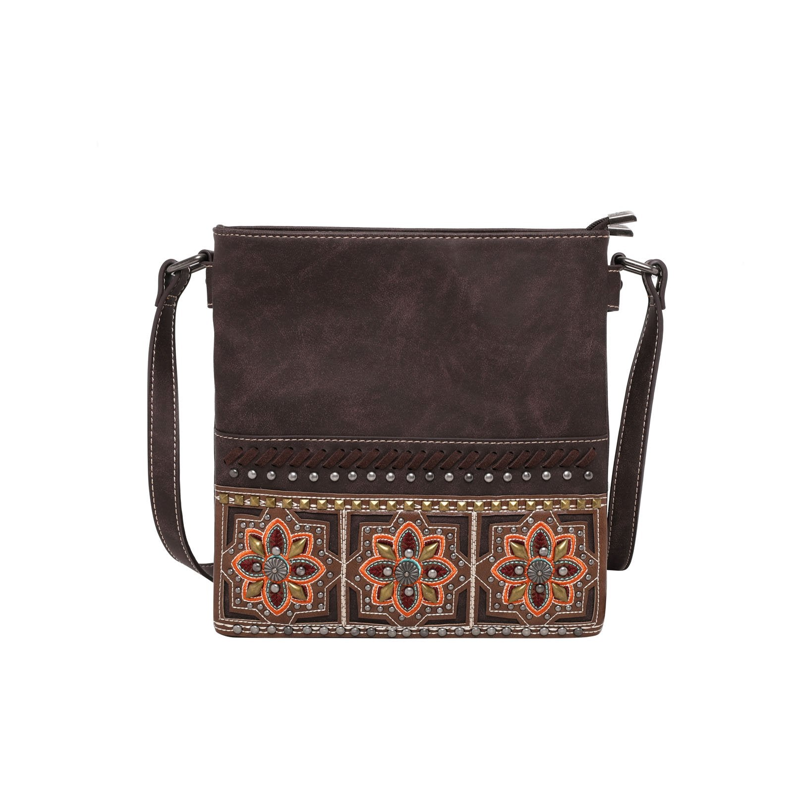 Montana West Embroidered Collection Concealed Carry Crossbody Bag