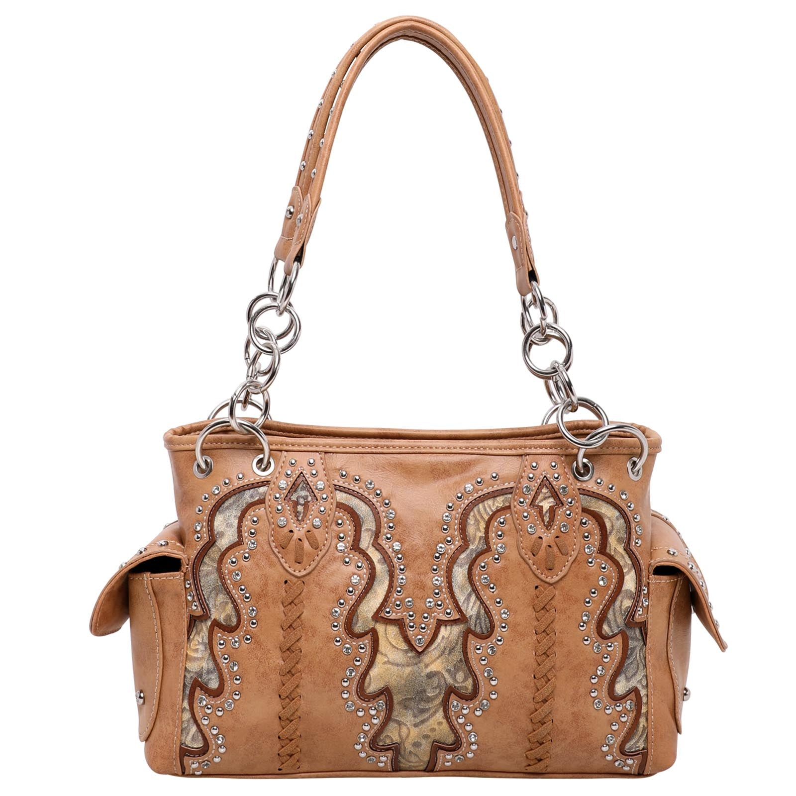 Montana West Tooled Collection Concealed Carry Satchel