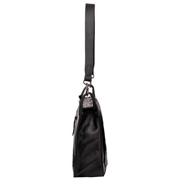 Castellanosia Genuine Leather Hobo Bag - Montana West World