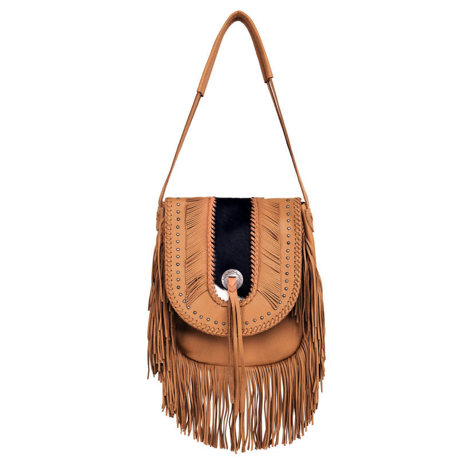 Montana West Real Leather Bohemian Hobo