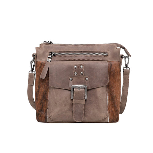 Montana West Genuine Leather Buckle Concealed Carry Crossbody - Montana West World