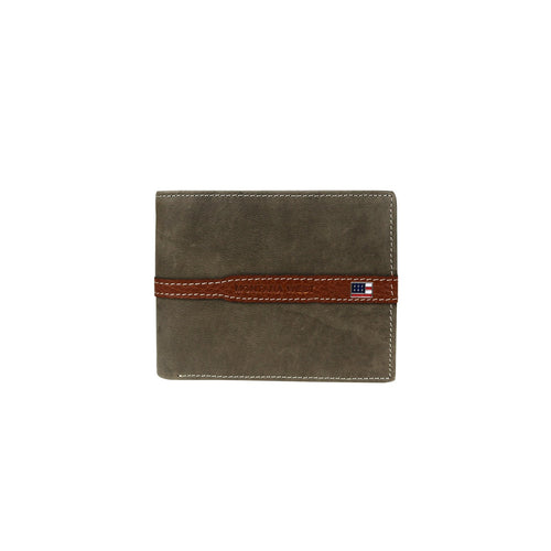 MWS-028 Genuine Leather US Flag Logo Men's Wallet - Montana West World