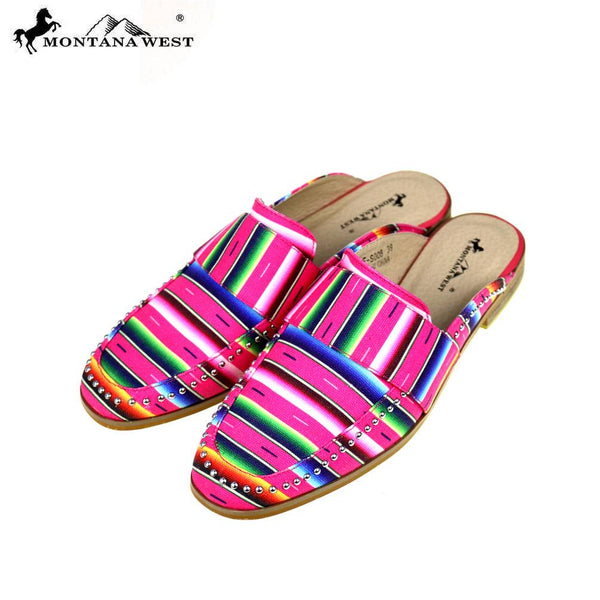 NFF-S008  Montana West Serape Collection Mule Slide - Montana West World