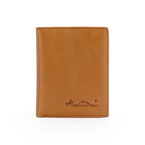 Genuine Leather Men's Bi-Fold Wallet - Montana West World