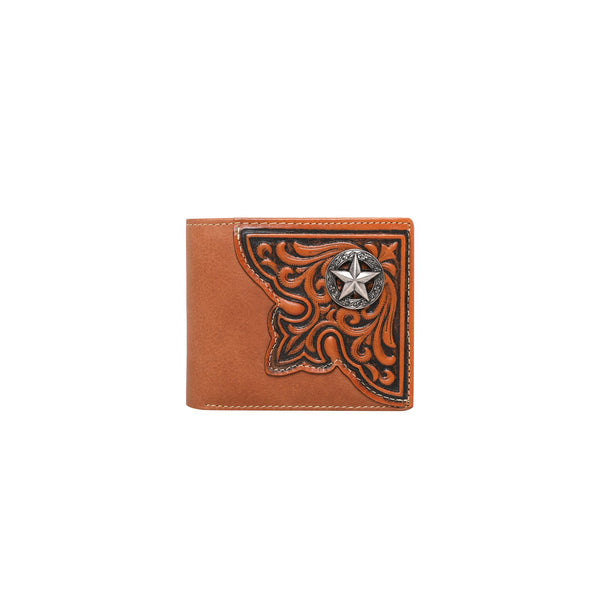 RFID-W012 Genuine Leather Tooled Collection Men's Wallet