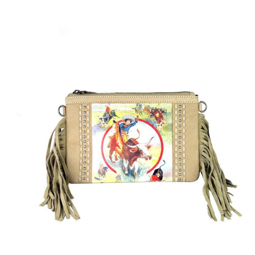 Rodeo f Fringe Clutch - Montana West World