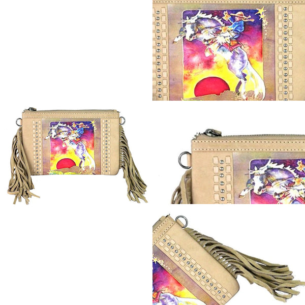 Rodeo h Fringe Clutch - Montana West World
