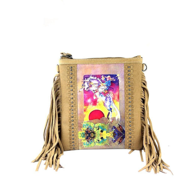 Rodeo o Fringe Crossbody Bag - Montana West World