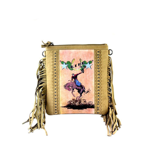 Rodeo q Fringe Crossbody Bag - Montana West World