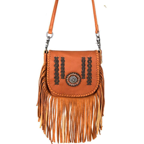 Homalocephala Fringe Crossbody Bag - Montana West World