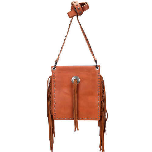 RLC-L129 Montana West Real Leather Fringe Shoulder/Crossbody Bag - Montana West World