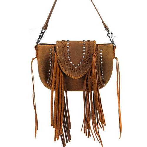 RLC-L141 Montana West Real Leather Shoulder/Crossbody Bag - Montana West World