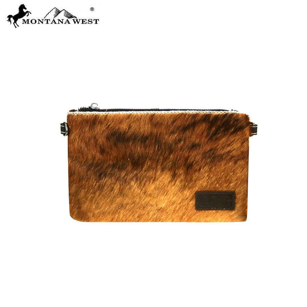 Glassii Hair-On Cowhide Clutch - Montana West World