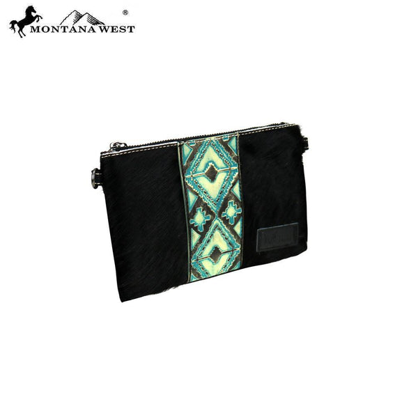 RLH-011 Montana West Hair-On Cowhide Leather Clutch/Crossbody - Montana West World