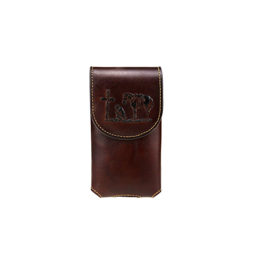 Montana West Genuine Leather Belt Loop Holster Cell Phone Case - Montana West World