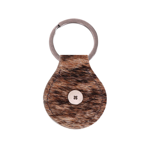 RYS-225A  Montana West Real Leather Hair-On Cowhide Cowboy Boot  Key Fob/Key Chain 1Pcs - Montana West World