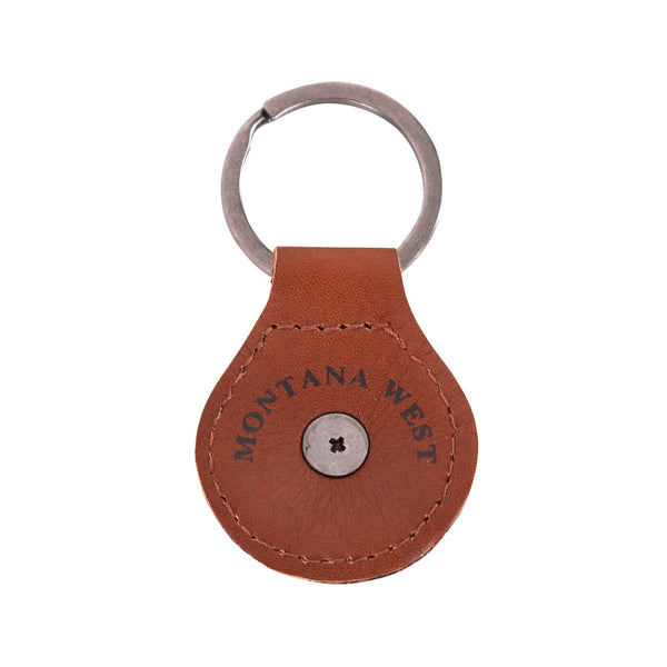 RYS-241B  Montana West Real Leather Texas Lonestar Concho Key Fob/Key Chain  1Pcs - Montana West World