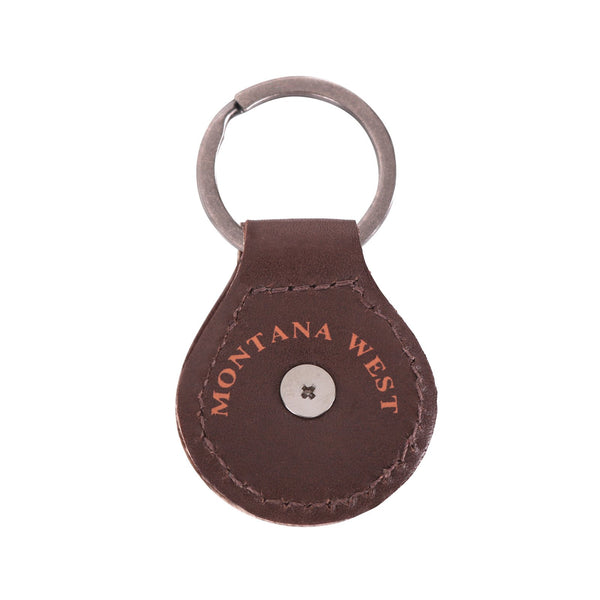 RYS-234B  Montana West Real Leather Lone Star Concho Key Fob/Key Chain  1Pcs - Montana West World