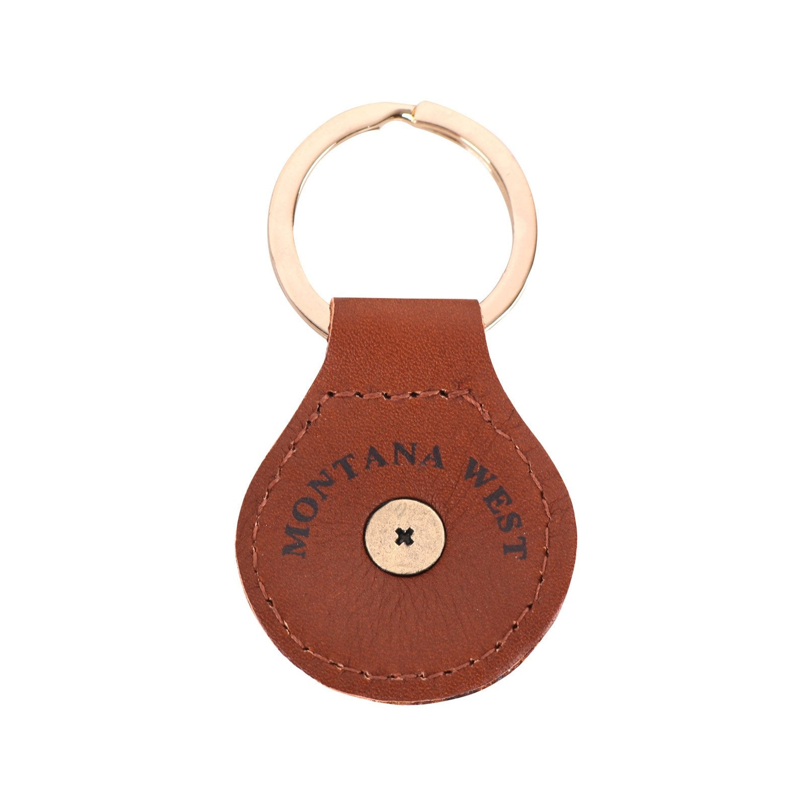 RYS-231B  Montana West Real Leather Thunderbird Concho Key Fob/Key Chain  1Pcs - Montana West World