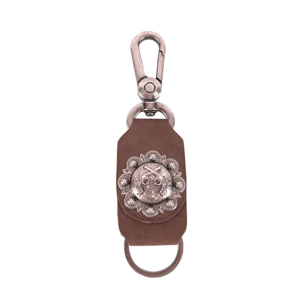 RYS-269  Montana West Real Leather Double Pistol Concho Key Chain 1Pcs - Montana West World