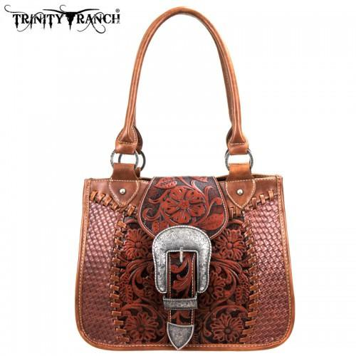 TR-SSF-8263 Montana West Buckle Collection Trinity Ranch Handbag - Montana West World